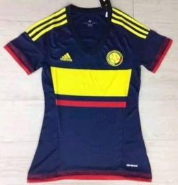 Футболка женская футбольная сборной Колумбии (гостевая)