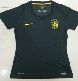 Футболка женская футбольная сборной Бразилии (гостевая)