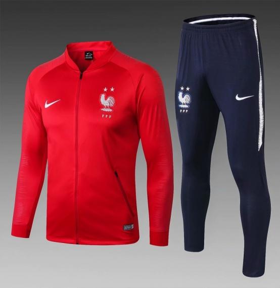Футбольный костюм сборной Франции 2018-2019 красный