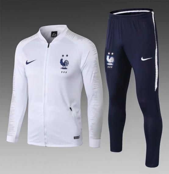 Футбольный костюм сборной Франции 2018-2019 белый