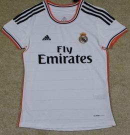 Футболка женская футбольного клуба Реал Мадрид (домашняя)