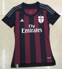 Футболка женская футбольного клуба Милан (домашняя)