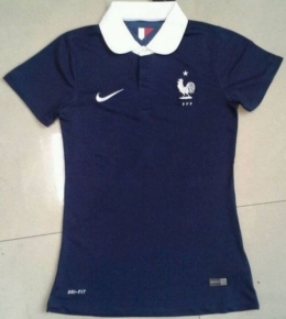 Футболка женская футбольная сборной Франции (домашняя)