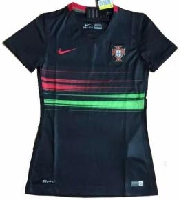 Футболка женская футбольная сборной Португалии (гостевая)