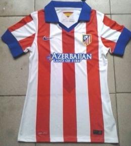 Футболка женская футбольного клуба Атлетико (домашняя)