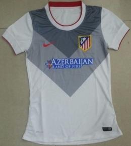 Футболка женская футбольного клуба Атлетико (гостевая)