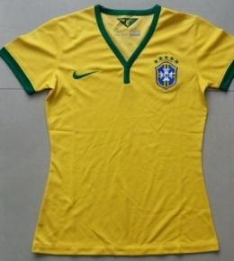 Футболка женская футбольная сборной Бразилии (домашняя)