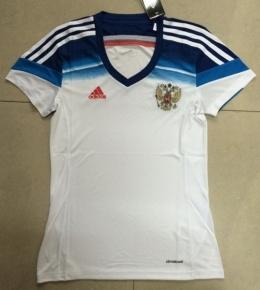 Футболка женская футбольная сборной России (гостевая)